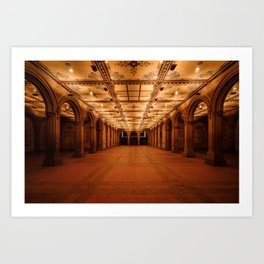 Bethesda Terrace in Central Park Art Print