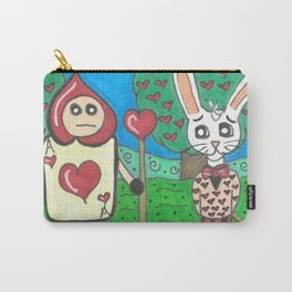 Card Soldier and White Rabbit Carry-All Pouch