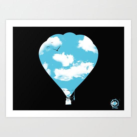 sky balloon Art Print