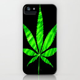 Weed : High Times Vibrant Green iPhone Case