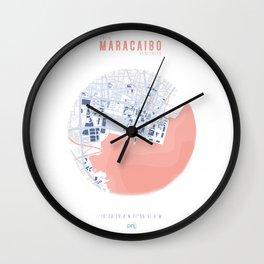 Map Chart #1 - MARACAIBO, VENEZUELA Wall Clock