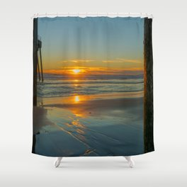 Sunset Bookends Shower Curtain