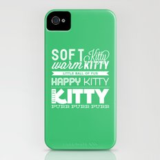 Soft Kitty iPhone (4, 4s) Slim Case
