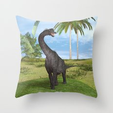Dinosaur Brachiosaurus Throw Pillow
