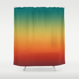 Colorful Trendy Gradient Pattern Shower Curtain