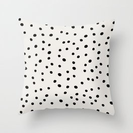 Preppy Spots Digita Drawing Throw Pillow