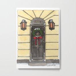A 221B Christmas Metal Print
