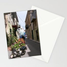 Motor Bike in Nafplio Stationery Cards