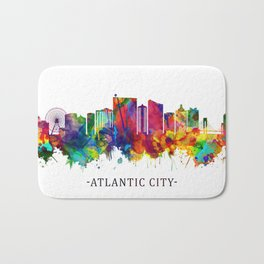 Atlantic City New Jersey Skyline Bath Mat