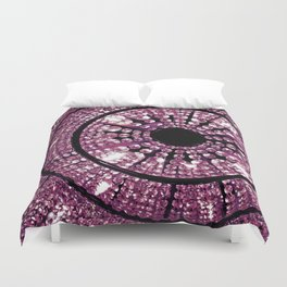 Pink Crystals Duvet Cover