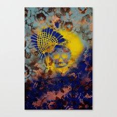 Pineapple Flower Skull Canvas Print