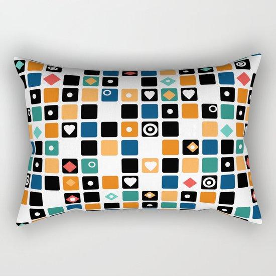 Colorful cubes . Rectangular Pillow