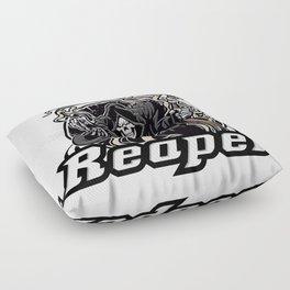 Illustration of grim reaper on white background Floor Pillow