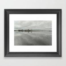 Edinburgh sea side, rainy day Framed Art Print