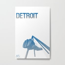 Cities Of America: Detroit Metal Print