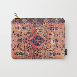 Kashan Central Persian Silk Rug Print Carry-All Pouch