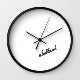 #backtowork   [black] Wall Clock