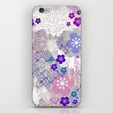 Lavender Crane Floral iPhone & iPod Skin