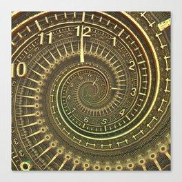 Bronze Metallic Ornate Spiral Time Machine Canvas Print