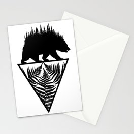 Fern and Bear Stationery Cards