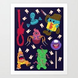 Killer Candy Pattern Art Print