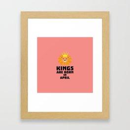 Kings are born in APRIL T-Shirt D723w Framed Art Print