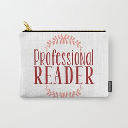 Professional Reader - White w Red Carry-All Pouch