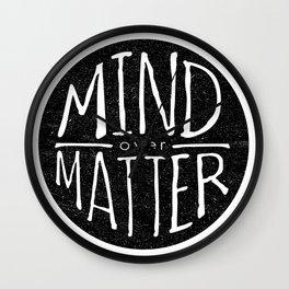 mind - matter Wall Clock