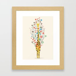 I Brought You These Flowers Framed Art Print