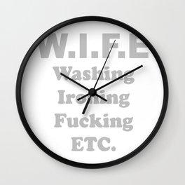 Wife Washing Ironing Fucking Wall Clock