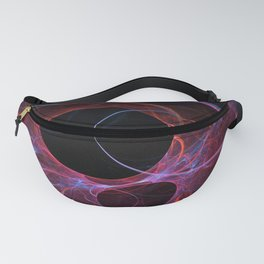 Neon Gravity Flame Fractal Fanny Pack