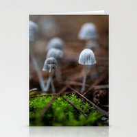 mushrooms Stationery Cards featuring Mushrooms by Michelle McConnell