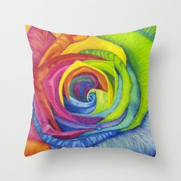 Rainbows of Roses Throw Pillow