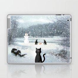 Cat on tour Laptop & iPad Skin