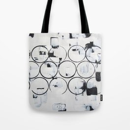 """No. 29 - Print of Original Acrylic Painting on canvas - 16"""" x 20"""" - (White and black) Tote Bag"""