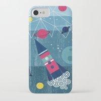 spaceship iPhone & iPod Cases featuring Spaceship by Kakel