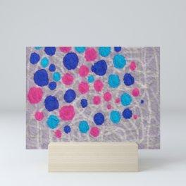 ink napkin polkadots Mini Art Print