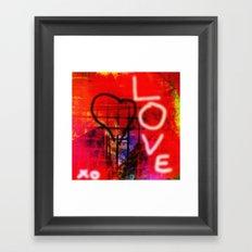 Love Graffiti Framed Art Print
