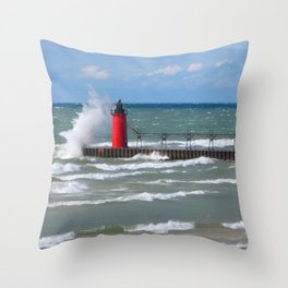 Big Wind Blowing Throw Pillow