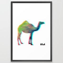 3d Camel Framed Art Print