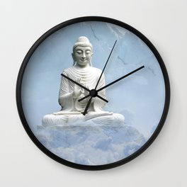 Buddha in Clouds Wall Clock