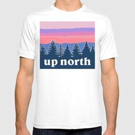 up north, pink hues T-shirt