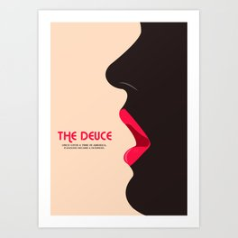 The Deuce Minimalist Poster - Lips Art Print