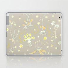 Yellow Floral Pattern Laptop & iPad Skin