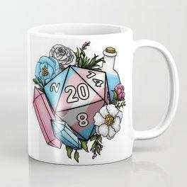 Pride Transgender D20 Tabletop RPG Gaming Dice Coffee Mug