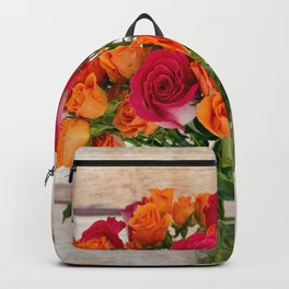 Colorful Rose Bouquet Backpack