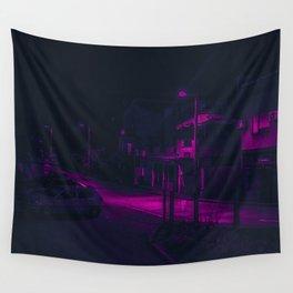 Cyberpunk Street Car Wall Tapestry