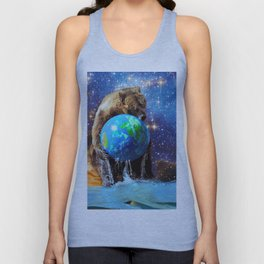 Give Planet Earth A Bear Hug! Unisex Tank Top