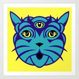 Third Eye Catnip Art Print