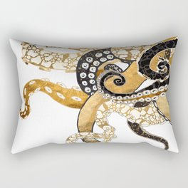 Metallic Octopus Rectangular Pillow